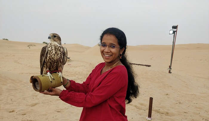 in the dessert with eagle