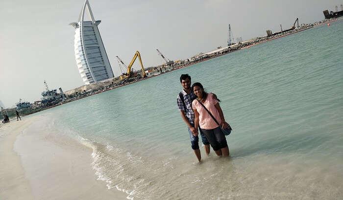 Dubai beach view