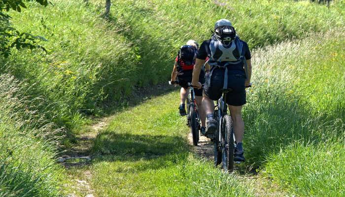 cycling in Kushalnagar