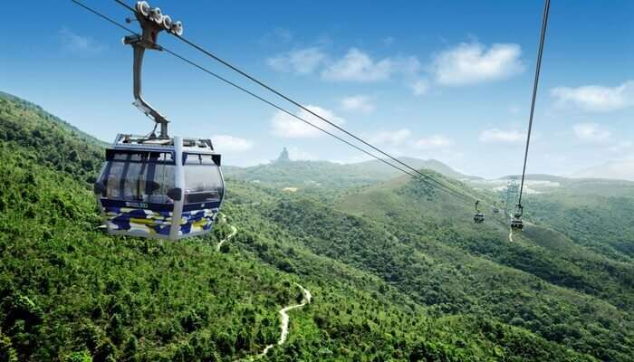 cable car ride to the top of Ngong Ping