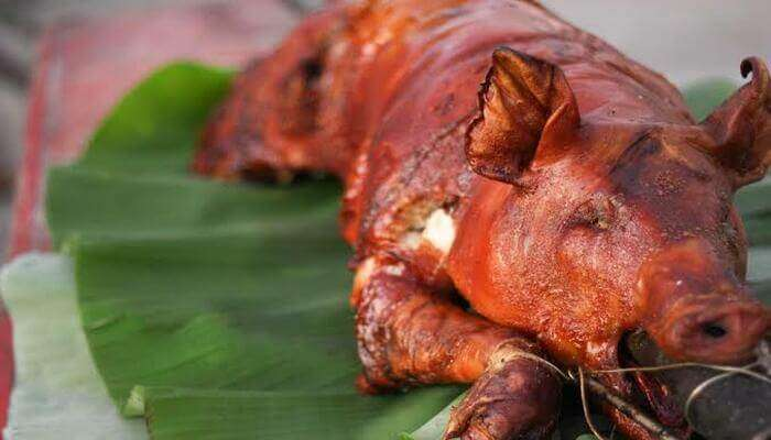 golden-brown and crisp roasted pigs