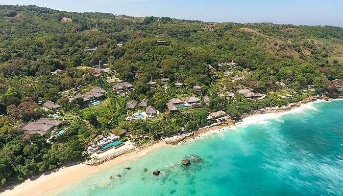 pristine beach in indonesia