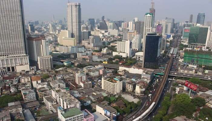 Look Over Bangkok From Top