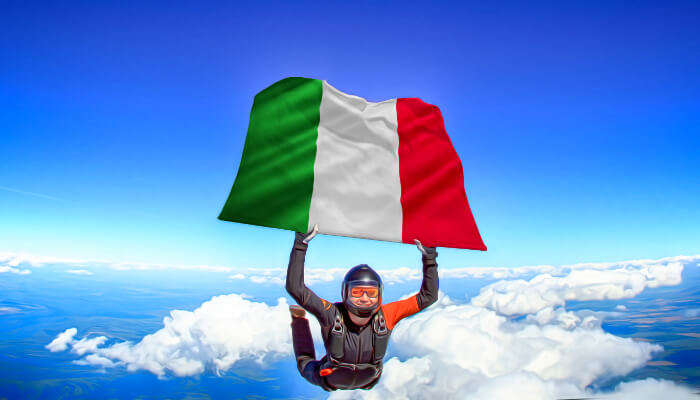 Skydiving In Italy