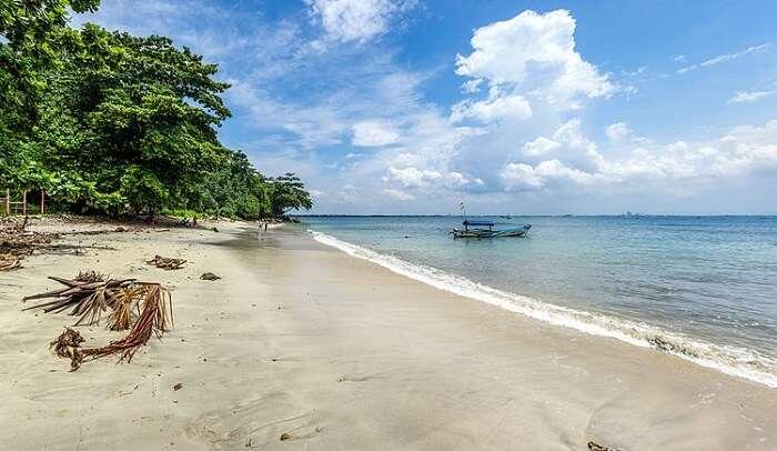gorgeous white sand beach