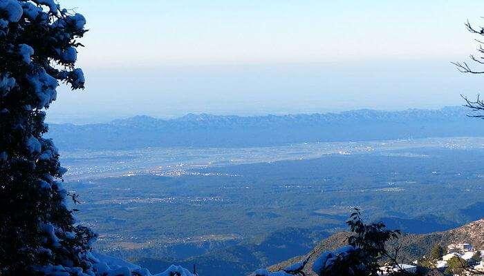 the Shivalik Hills in the Himalayas