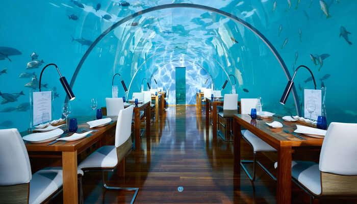 undersea restaurant in maldives