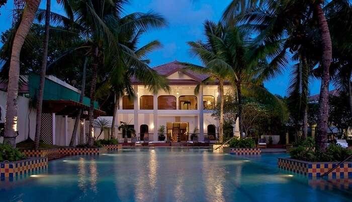a luxurious resort