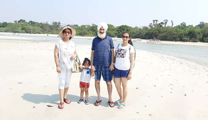 on a vaction with family to andaman