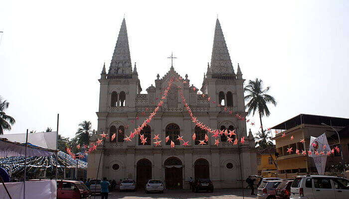 Gothic architectural style of church