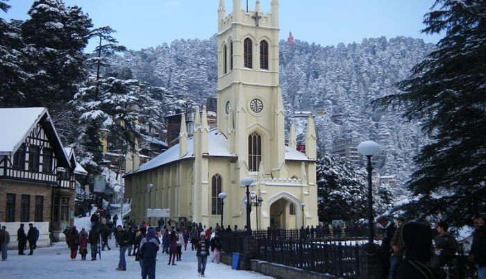 Winters View of Shimla