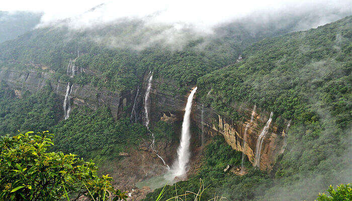 Nohkalikai Waterfalls, Cherrapunjee
