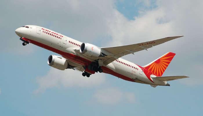 An Air India Flight in Air