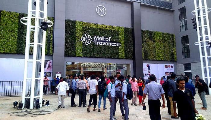 Mall Of Travancore Entrance