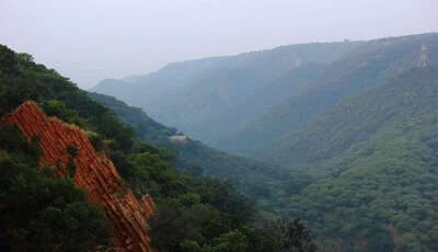 Aravalli valley in Rajasthan