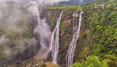 Sharavathi river creates this waterfall