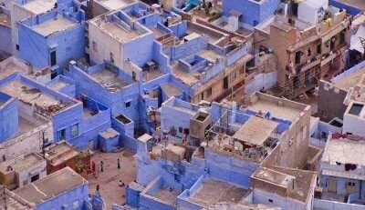 color-coded city in Rajasthan
