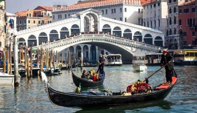 Beautiful Sight of Gondola in Venice