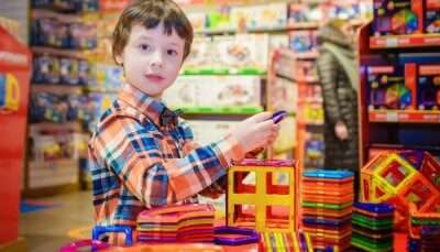 A child in a Toy Shop