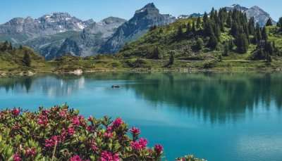 A lake in Switzerland