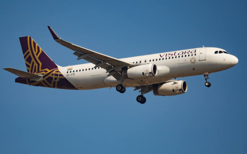 Vistara Flight in Air