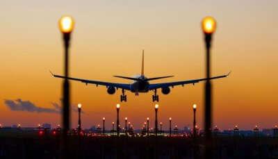 flight landing at the airport